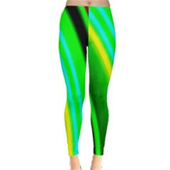 Multi Colorful Radiant Background Leggings  by Nexatart