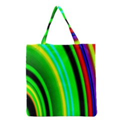 Multi Colorful Radiant Background Grocery Tote Bag