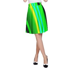Multi Colorful Radiant Background A Line Skirt