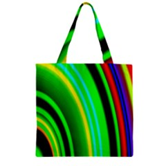 Multi Colorful Radiant Background Zipper Grocery Tote Bag by Nexatart