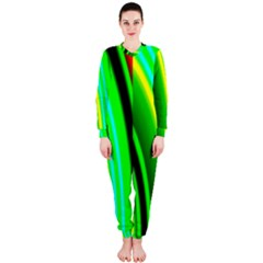 Multi Colorful Radiant Background Onepiece Jumpsuit (ladies)