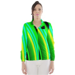 Multi Colorful Radiant Background Wind Breaker (women)
