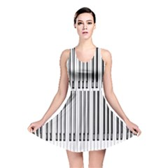 Abstract Piano Keys Background Reversible Skater Dress