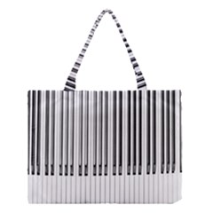 Abstract Piano Keys Background Medium Tote Bag by Nexatart