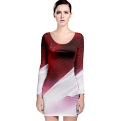 Dreamworld Studio 2d Illustration Of Beautiful Studio Setting Long Sleeve Velvet Bodycon Dress