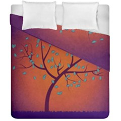 Beautiful Tree Background Duvet Cover Double Side (california King Size) by Nexatart