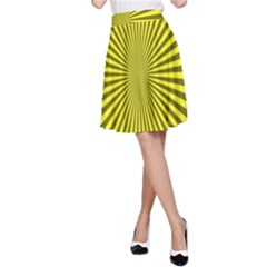 Sunburst Pattern Radial Background A Line Skirt