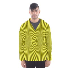 Sunburst Pattern Radial Background Hooded Wind Breaker (men)