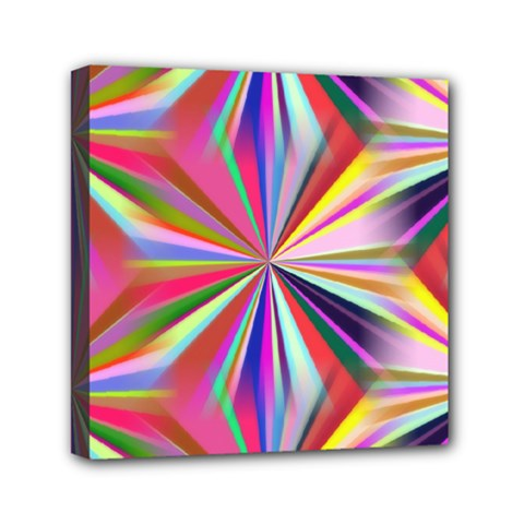Star A Completely Seamless Tile Able Design Mini Canvas 6  X 6  by Nexatart