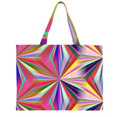 Star A Completely Seamless Tile Able Design Zipper Large Tote Bag by Nexatart