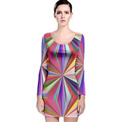 Star A Completely Seamless Tile Able Design Long Sleeve Velvet Bodycon Dress