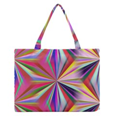 Star A Completely Seamless Tile Able Design Medium Zipper Tote Bag by Nexatart