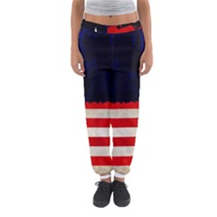 Grunge American Flag Background Women s Jogger Sweatpants by Nexatart