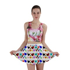 A Creative Colorful Background With Hearts Mini Skirt