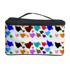 A Creative Colorful Background With Hearts Cosmetic Storage Case