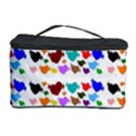 A Creative Colorful Background With Hearts Cosmetic Storage Case View1