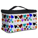 A Creative Colorful Background With Hearts Cosmetic Storage Case View2