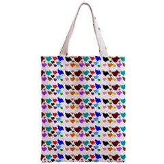 A Creative Colorful Background With Hearts Zipper Classic Tote Bag