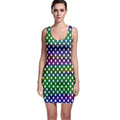 Digital Polka Dots Patterned Background Sleeveless Bodycon Dress