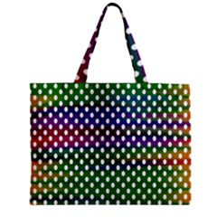 Digital Polka Dots Patterned Background Zipper Mini Tote Bag by Nexatart