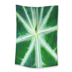 Green Leaf Macro Detail Small Tapestry by Nexatart