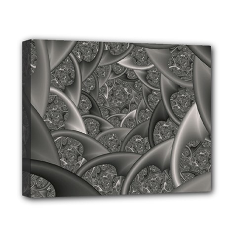 Fractal Black Ribbon Spirals Canvas 10  X 8  by Nexatart