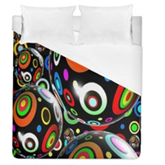 Background Balls Circles Duvet Cover (queen Size) by Nexatart
