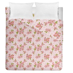 Beautiful Hand Drawn Flowers Pattern Duvet Cover Double Side (queen Size) by TastefulDesigns