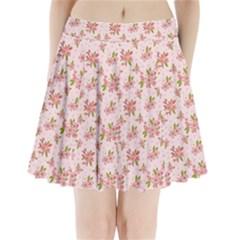 Beautiful Hand Drawn Flowers Pattern Pleated Mini Skirt by TastefulDesigns