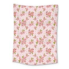 Beautiful Hand Drawn Flowers Pattern Medium Tapestry by TastefulDesigns