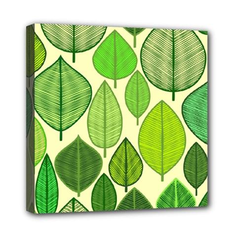 Leaves Pattern Design Mini Canvas 8  X 8  by TastefulDesigns