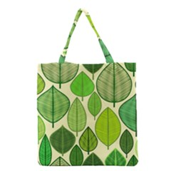 Leaves Pattern Design Grocery Tote Bag by TastefulDesigns