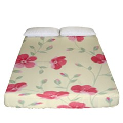 Seamless Flower Pattern Fitted Sheet (king Size) by TastefulDesigns