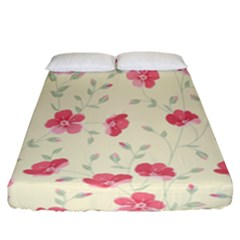 Seamless Flower Pattern Fitted Sheet (california King Size) by TastefulDesigns
