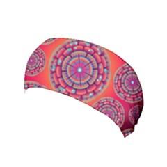 Pretty Floral Geometric Pattern Yoga Headband
