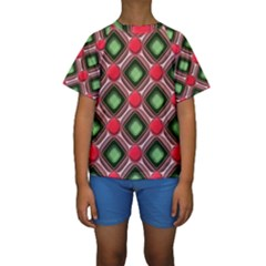 Gem Texture A Completely Seamless Tile Able Background Design Kids  Short Sleeve Swimwear