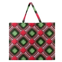 Gem Texture A Completely Seamless Tile Able Background Design Zipper Large Tote Bag by Nexatart