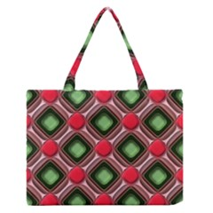 Gem Texture A Completely Seamless Tile Able Background Design Medium Zipper Tote Bag by Nexatart
