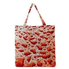 Water Drops Background Grocery Tote Bag by Nexatart