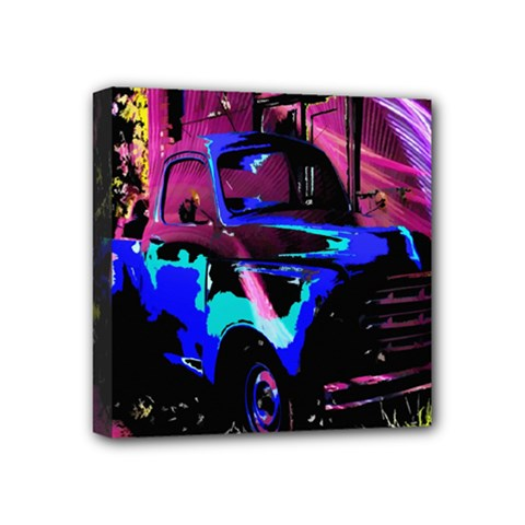 Abstract Artwork Of A Old Truck Mini Canvas 4  X 4