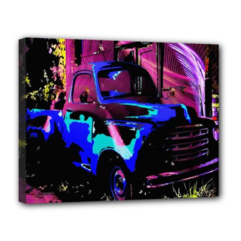 Abstract Artwork Of A Old Truck Canvas 14  X 11  by Nexatart