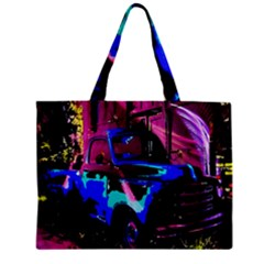 Abstract Artwork Of A Old Truck Zipper Mini Tote Bag by Nexatart