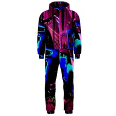 Abstract Artwork Of A Old Truck Hooded Jumpsuit (men)  by Nexatart