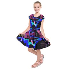 Abstract Artwork Of A Old Truck Kids  Short Sleeve Dress by Nexatart