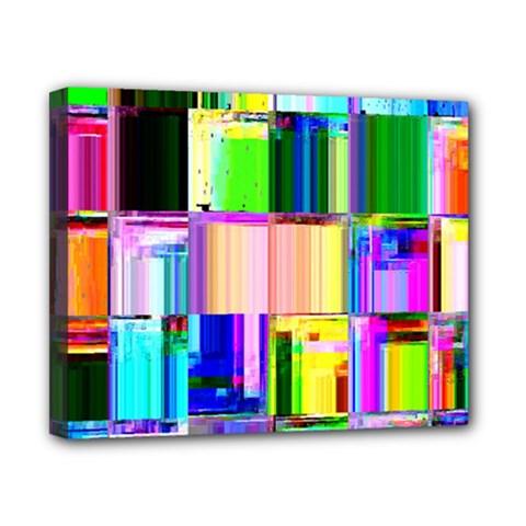 Glitch Art Abstract Canvas 10  X 8