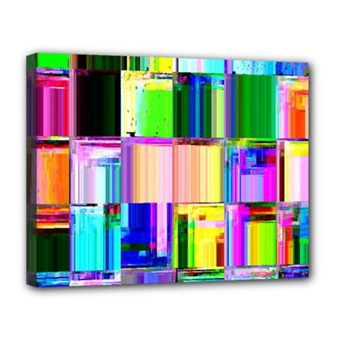 Glitch Art Abstract Canvas 14  X 11  by Nexatart
