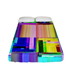 Glitch Art Abstract Fitted Sheet (full/ Double Size)