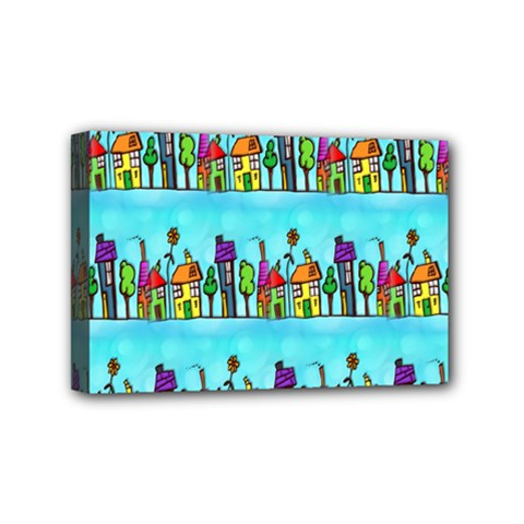 Colourful Street A Completely Seamless Tile Able Design Mini Canvas 6  X 4  by Nexatart