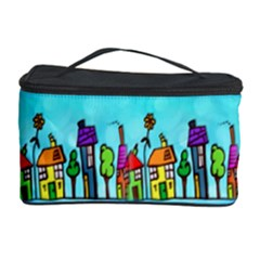 Colourful Street A Completely Seamless Tile Able Design Cosmetic Storage Case