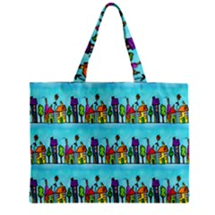 Colourful Street A Completely Seamless Tile Able Design Zipper Mini Tote Bag by Nexatart
